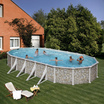 Piscine Hors sol DREAM POOL Ovale SKYATHOS 915 x 470 h 132
