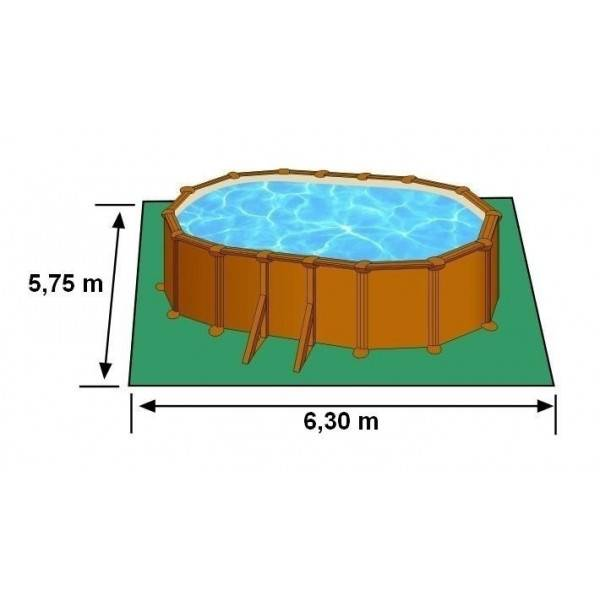 Piscine hors sol ovale mauritius 610 x 375 h 132 pas cher for Piscine ovale pas cher