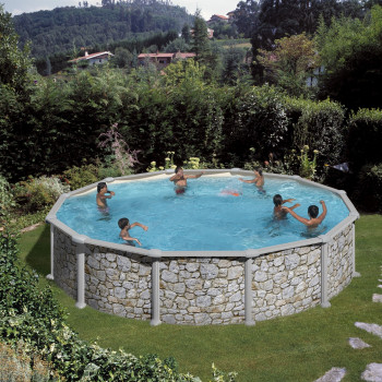 Piscine Hors Sol DREAM POOL Ronde SKYATHOS diam 550 h 132