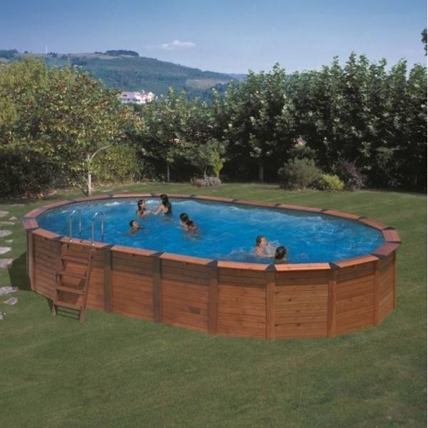 Piscine Hors sol NATURE POOL Ovale HAWAÏ D Ext 820 X 515 h 132