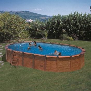Piscine Hors sol NATURE POOL Ovale HAWAÏ D Ext 930 X 515 h 132