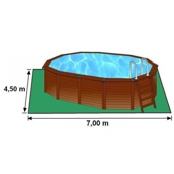 Piscine hors sol ovale hawa d ext 750 x 425 h 132 pas cher for Piscine ovale pas cher