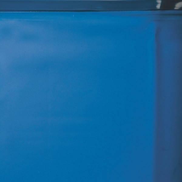 Liner 0.40 bleu avec rail d'accroche piscine ovale 730 x 375 h 132