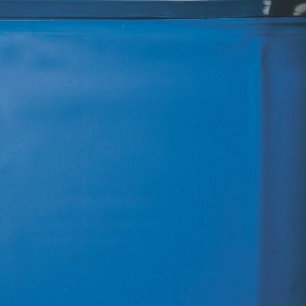 Liner 0.40 bleu avec rail d'accroche piscine ovale 730 x 375 h 120