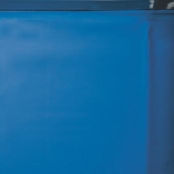 Liner 0.40 bleu avec rail d'accroche piscine ovale 610 x 375 h 132