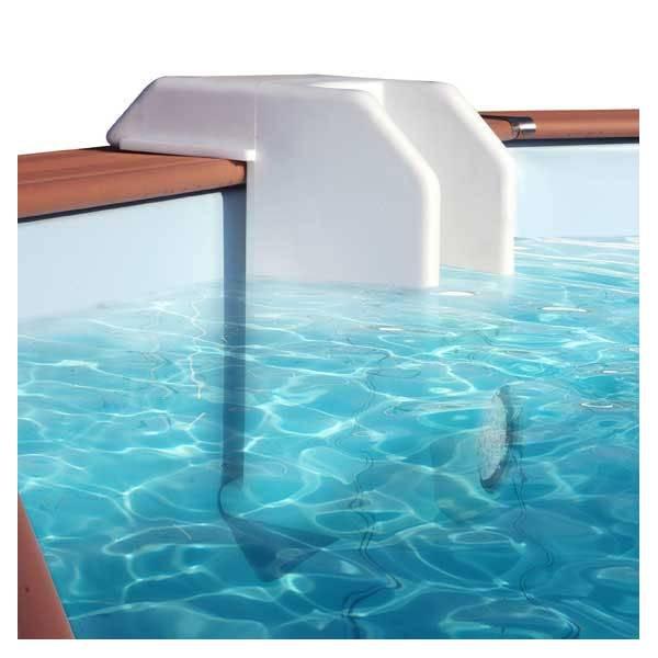Bloc skimmer pvc avec clairage water clip ex cristaline for Bloc filtrant piscine