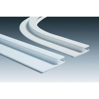 Rail Hung horizontal PVC - barre de 2 mètres h 50 mm