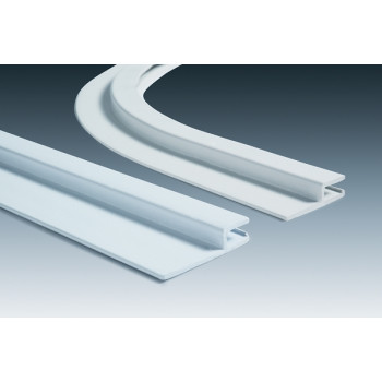 Rail Hung horizontal PVC - barre de 2.5 mètres h 50 mm