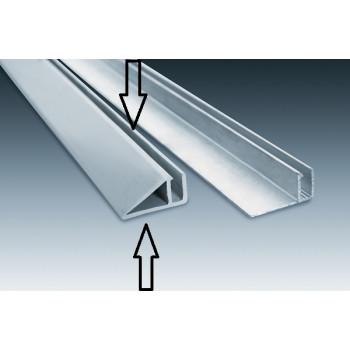Rail Hung vertical PVC - barre de 2.5 mètres