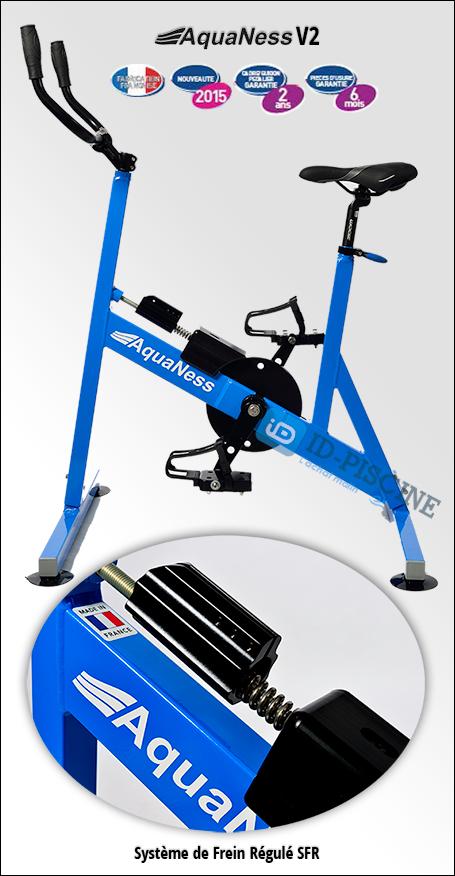Aquabike Aquaness V2 équipé du système de frein régulé.