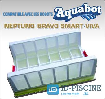 Cassette filtrante Aquabot pour robots piscine Neptuno, Bravo Smart et Viva - Accessoires robots piscine chez ID-Piscine