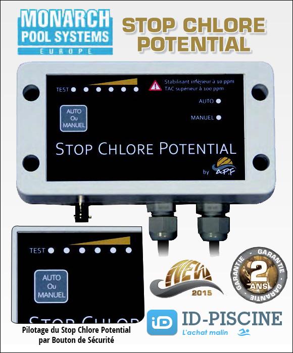 Contrôleur Redox Stop Chlore Potential pour électrolyseur - Une nouveauté 2015 Monarch Pool Systems garantie 2 ans.