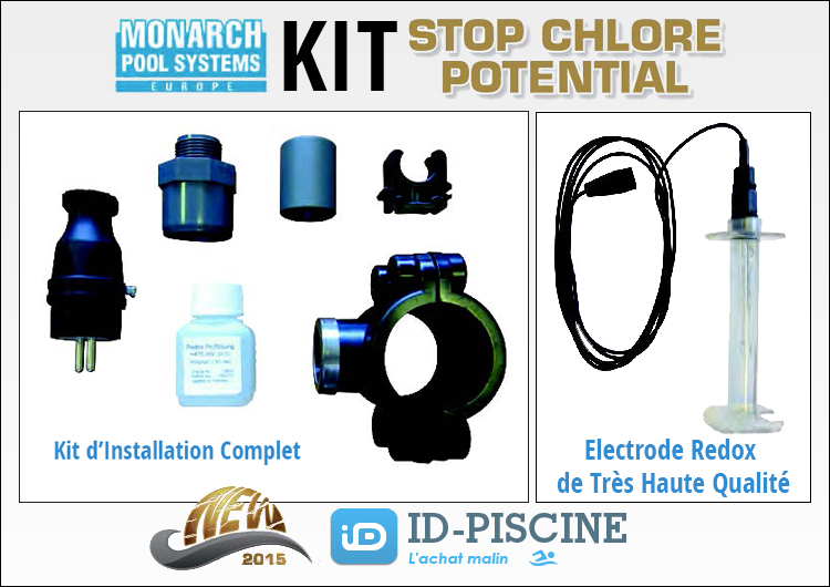 Kit complet Stop Chlore Potential de Monarch Pool Systems.