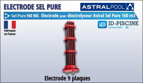 Electrode Astral pour électrolyseur Sel Pure 160 m3 - Modèle électrode 9 plaques pour électrolyseur haut de gamme Astral Sel Pure 1060 M3