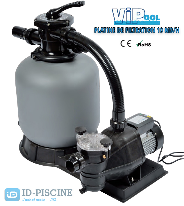 Platine de filtration VIPool 10 M3/H