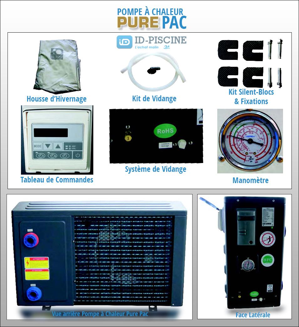 Accessoires et éléments pompe à chaleur série Pure Pac