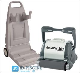 Découvrez le modèle Hayward AquaVac Mousse et chariot inclus pour piscines avec coques polyester et rebords de sécurité.