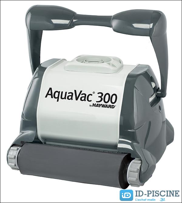 Robot piscine Hayward AquaVac 300 avec brosse-mousse et chariot inclus - Nouveauté 2015