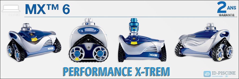 Robot nettoyeur de piscine Zodiac MX6 - Performance Extreme